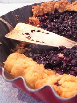 Heidelbeer-Marzipan-Tarte