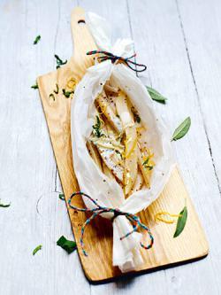 Honig-Schwarzwurzeln mit Salbei-Zitronen-Sauce